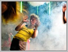 Super! Power! (sulamith.sallmann) Tags: people woman motion berlin fog deutschland dance nebel action stage smoke performance tnzer move tanz bewegung frau deu rauch mensch bhne hau auffhrung rockoper