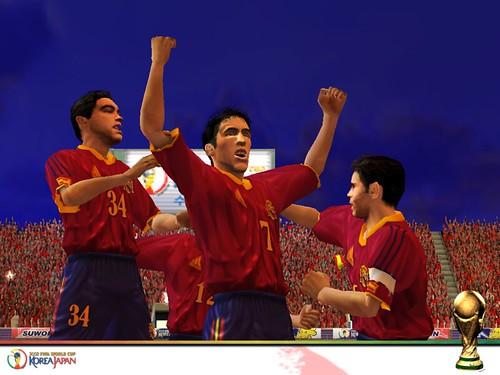 Captura de pantalla del videojuego 2002 FIFA World Cup
