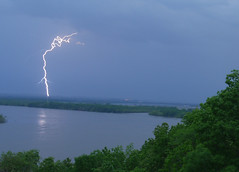 Lighting Over the Water (turp182) Tags: river illinois chester mississippiriver lightning fortkaskaskia