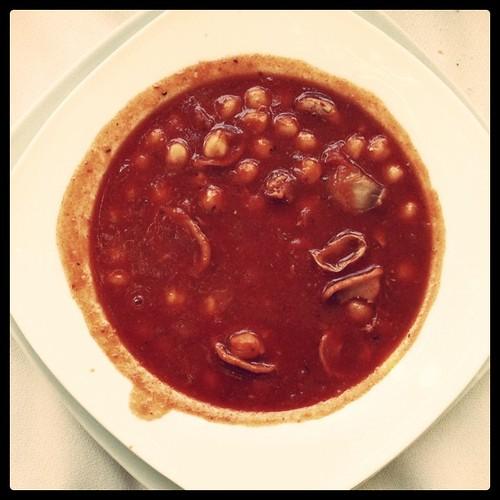 Cigronet de l'Anoia amb calamars al dinar de les Jornades de la #Penedesfera