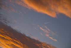 Leaving on a Jet Plane (Matt Champlin) Tags: life sunset sky nature plane canon airplane landscape evening flying colorful flight jet jetplane leavingonajetplane airplaneinthesky