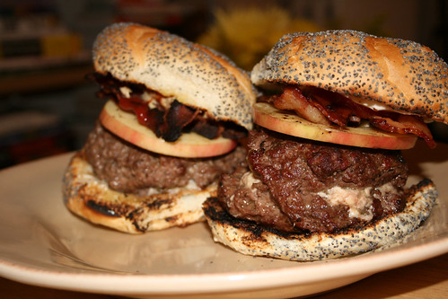 Apple Bacon Blue Cheese Burger
