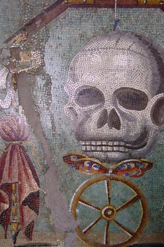 Memento Mori Roman Mosaic Pompeii 1st century CE by mharrsch