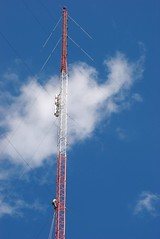 It can be lonely at the top (sara97) Tags: hardhat bluesky ropes broadcasttower safetyharness hdupgrade kdhxcommunitymedia photobysaraannefinke projectgroup2000 independentmusicplayshere