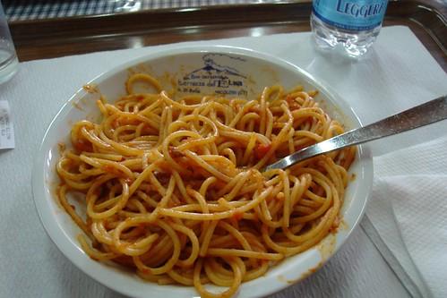 Spaghetti Bolognese at Mt. Etna