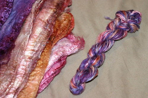 Silk hankies with handspun