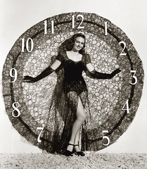 donna reed midnight (carbonated) Tags: clock vintage model dress lace newyearseve celebrities pinup donnareed holidaypinup multifunctionaldress spreadcheese nyeinvite 2008nyeinvite