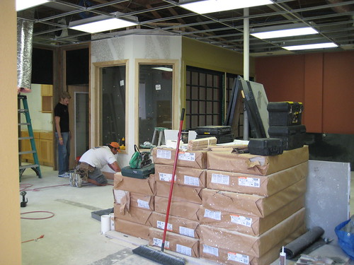 Photo of new space in new mid-construction
