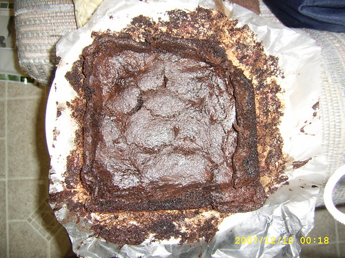 Brownies out of oven