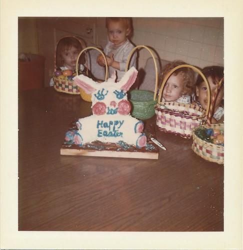 Easter Bunny Cake Circa 1974