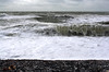 Storm, Sea, Shingle.... (lowbattery) Tags: sea storm beach water clouds grey sussex coast waves shingle overcast pebbles teddybear eastbourne southeast beachyhead crashing birlinggap fluffytoy