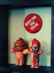 poopy kewpie and visible kewpie (Super*Junk) Tags: toys miniatures miniature display cabinet furniture collection organization collectibles curios