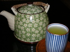 Hot green tea