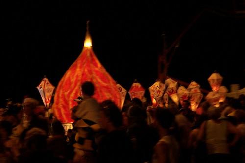 Fire lantern Australia Day 2008 Woy Woy