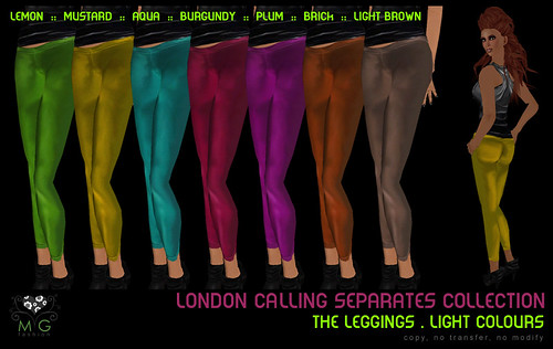 [MG fashion] London Calling Collection - The Leggings (light colours)