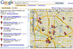 Chicago Plumbers in Google Maps