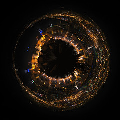 Planet Marseilles (Lolo_) Tags: major marseille bynight planet vieuxport marseilles goldeneye plante cmacgm polarpanorama fortsaintjean deuxcestmieux