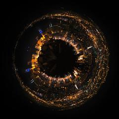 Planet Marseilles (Lolo_) Tags: major marseille bynight planet vieuxport marseilles goldeneye planète cmacgm polarpanorama fortsaintjean àdeuxcestmieux