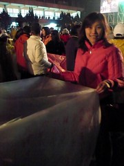 Kongming lantern 準備放天燈