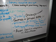 Drupalcon 2008 Boston Birds of a Feather board