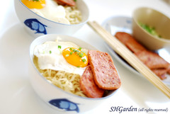 Instant noodles (*steveH) Tags: food lunch chinesefood egg meat explore noodles instantnoodles luncheonmeat steveh