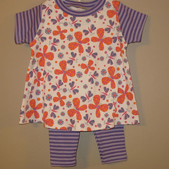 Orange Butterflys 2 pc set