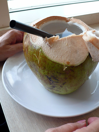 young coconut drink