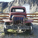 old truck and cars everywhere in El Chalten
