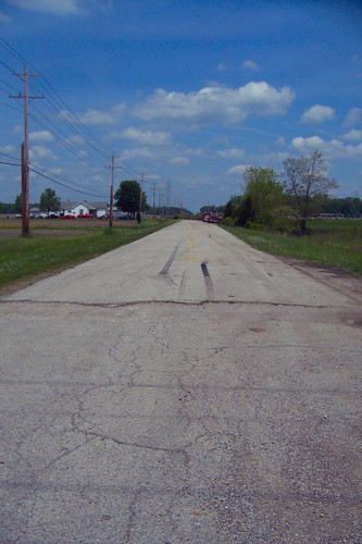 Abandoned Michigan Road segment