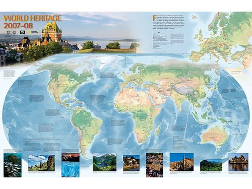 carte du patrimoine mondial de l'UNESCO