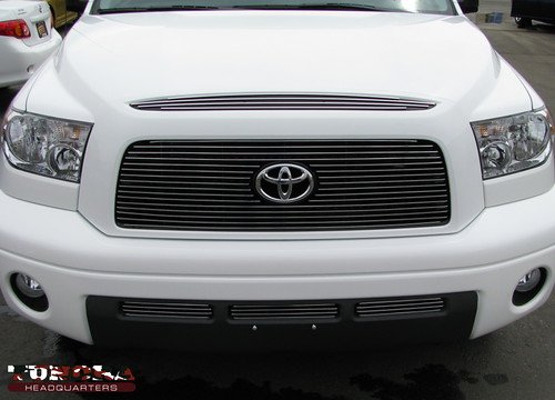 Carriage works billet grilles installed on a Toyota Tundra.