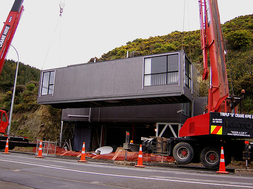 The low road - building an instant house from containers in New Zealand