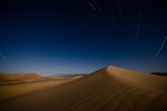 Mesquite Dunes Under The May Moon Long Version (After Dark Photo) Tags: longexposure nightphotography blue southwest night sand desert dunes fullmoon startrails sigma1020mm deathvalleynationalpark mesquitedunes canon40d may2009