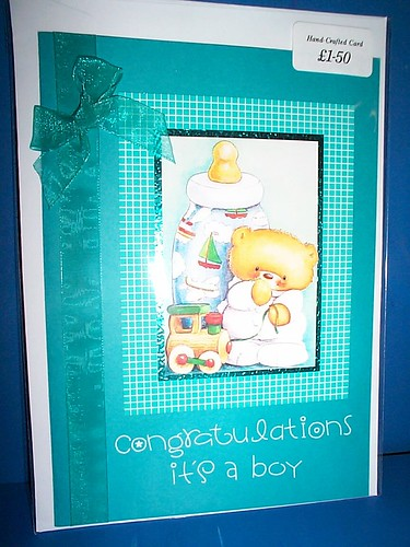 Ref: SOLD CARD 7 in Group 2 (Unavailable/Sold) / Baby Boy Card / Price £1.50