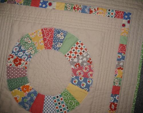mini quilt retro detail