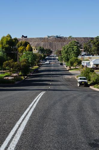 Looking down Sulphide Street, Broken Hill, New South Wales, Australia