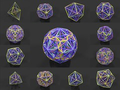 All the Edges of all the Catalan Solids (fdecomite) Tags: geometry math catalan solid povray polyhedron polyhedra