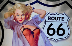 route 66 (try...error) Tags: sony rx 100 rx100 route 66 route66 pretty sexy woman red dress lips sign old classic art work artwork boobs erotic urban urbanarte people street girl