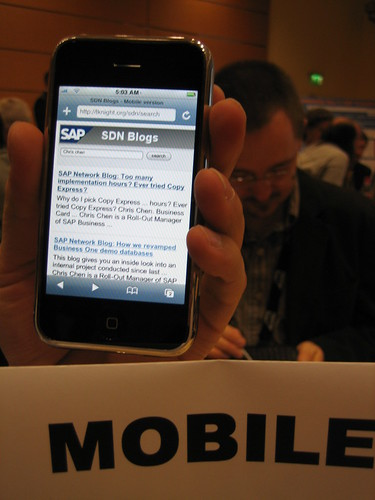 SDN Mobile on an iPhone