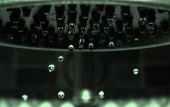 Drip, Drop, Drip (M.C. Martin) Tags: bw water shower drops drips waterdroplets dripping showerhead greentint challengeyouwinner ashfieldsinglehandlerusticpewtertubshowerfaucet pricepfsister