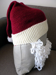Santa Hat for Motorbike Helmet (Side)