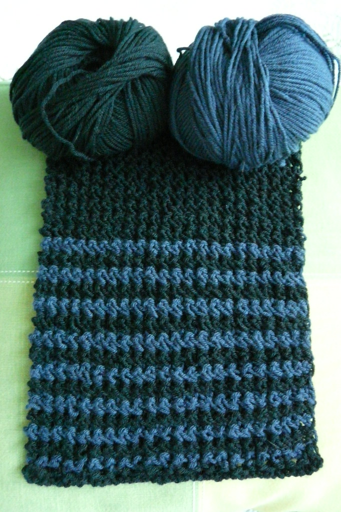 Black & Blue Scarf