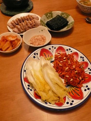 泡菜包豬肉