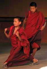 Muscle Monk (Atticus Finch!) Tags: travel nepal people children asian asia bhutan buddhist religion monk buddhism shang
