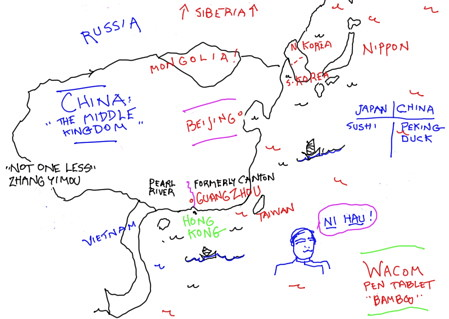 China map by trudeau