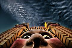 Luna Face (net.b) Tags: night clouds sydney australia nsw amusementpark lunapark now mysydneynow mysydneynowlunaparksydneyaustraliaamusementparknightcloudsnow