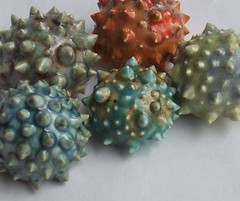 Spiked Ceramic Pins (jmnpottery) Tags: ceramic pin handmade ooak brooch jewelry spike etsy spiked jmnpottery