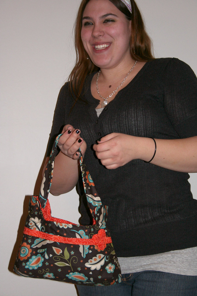 Ashley With Her New Purse