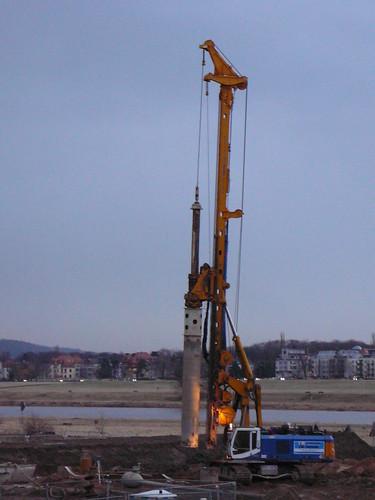 Pfeiler für Fundament der Brückenfüsse