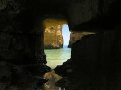 "Lagos - cave view (Romeodesign) Tags: sea beach portugal view lagos inside cave algarve ilustrarportugal sérieouro ""worldwide travelogue"" jaggedcaveviews"